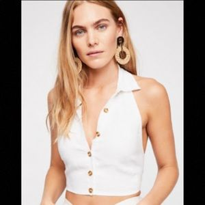 Free People Nellie Halter Top (size small)